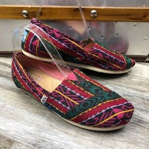 Toms Aztec Print Slip On Shoes size 8.5